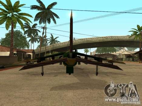 Camouflage for Hydra for GTA San Andreas back view