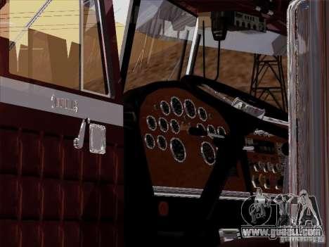 Peterbilt 359 Custom for GTA San Andreas inner view