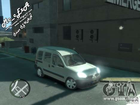 Renault Kangoo 2007 for GTA 4 upper view