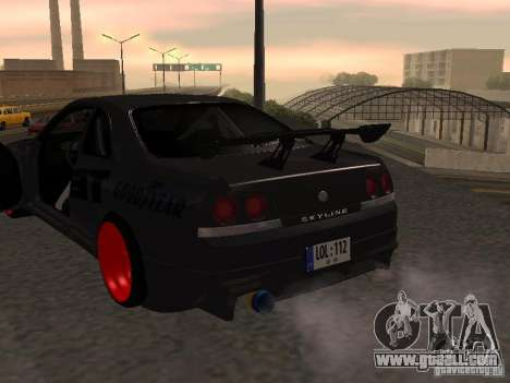 Nissan Skyline R33 for GTA San Andreas side view