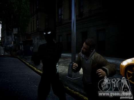 Spider Man Black Suit for GTA 4 third screenshot
