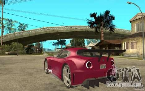 Alfa Romeo 8C GT3 RSX for GTA San Andreas back left view