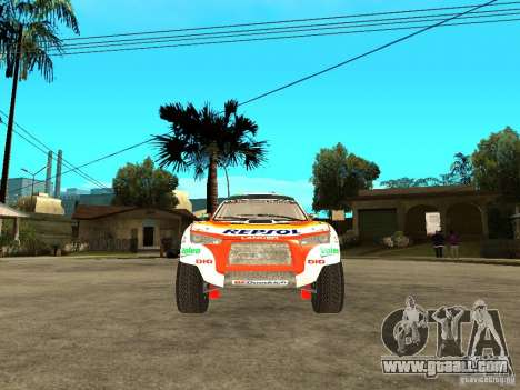 Mitsubishi Racing Lancer from DIRT 2 for GTA San Andreas right view