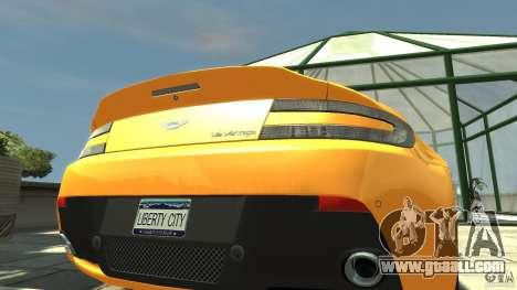 Aston Martin V12 Vantage 2010 for GTA 4 back view