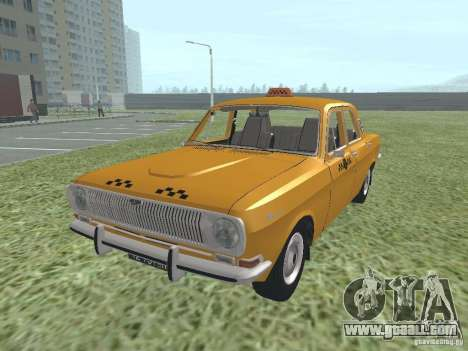GAZ 24-01 Taxi for GTA San Andreas back left view