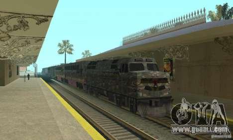 Camo train for GTA San Andreas