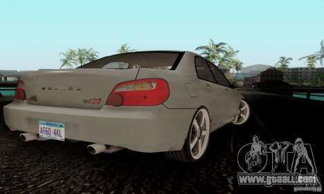 Subaru Impreza WRX STi TUNEABLE for GTA San Andreas back left view
