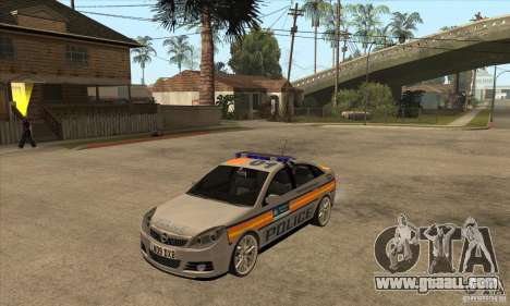Opel Vectra 2009 Metropolitan Police for GTA San Andreas