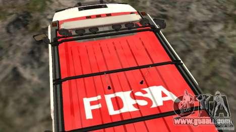 HUMMER H2 Amulance for GTA San Andreas right view