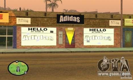 Shop ADIDAS for GTA San Andreas