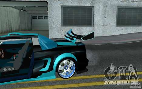 Baby blue Infernus for GTA San Andreas upper view