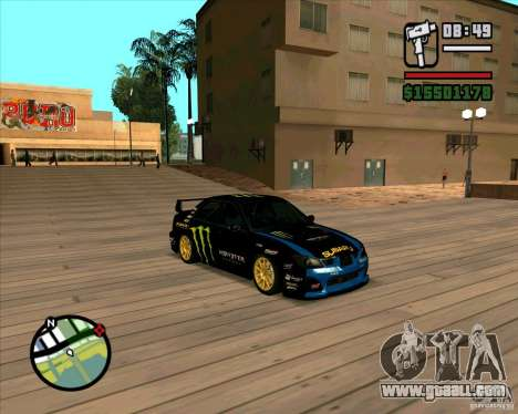 Subaru Impreza WRC STI 2007 Ken Block for GTA San Andreas