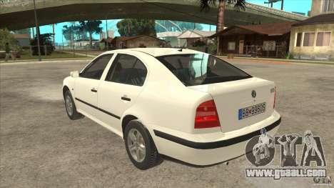 Skoda Octavia 1997 for GTA San Andreas back left view