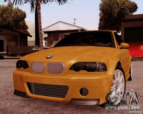 BMW M3 E46 stock for GTA San Andreas inner view