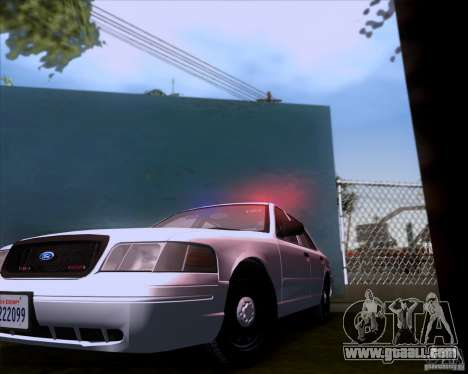 Ford Crown Victoria 2009 Detective for GTA San Andreas back view