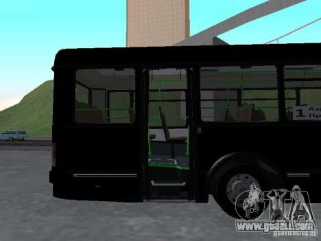 Buses 6222 for GTA San Andreas inner view
