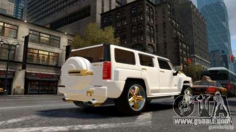 Hummer H3 2005 Gold Final for GTA 4 back left view