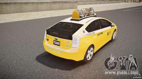 Toyota Prius LCC Taxi 2011 for GTA 4 bottom view