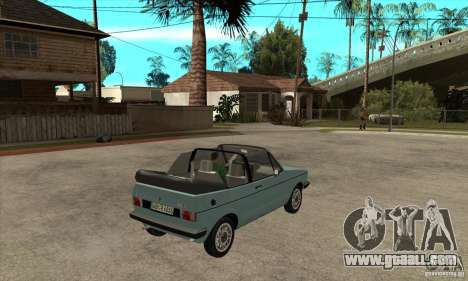 Volkswagen Golf Mk1 Cabrio for GTA San Andreas right view