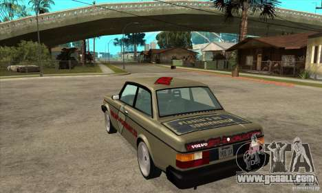 Volvo 240 Turbo for GTA San Andreas back left view