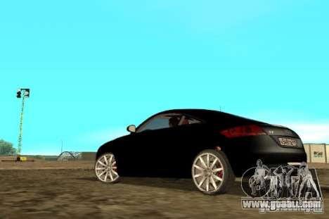 Audi TT 2007 for GTA San Andreas back left view