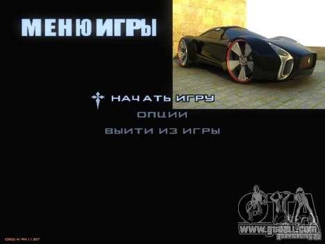 Boot screen and menu World Mishin v2 for GTA San Andreas