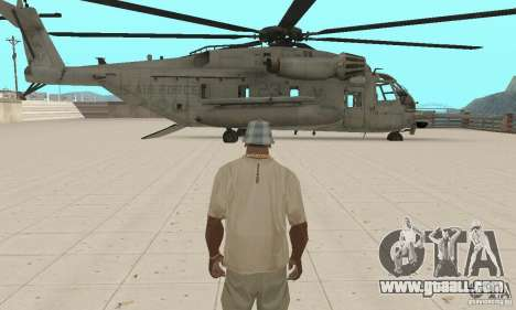 Sikorsky MH-53 for GTA San Andreas side view