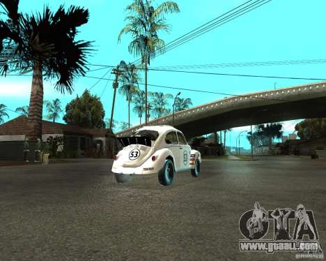 Volkswagen Beetle Herby for GTA San Andreas back left view