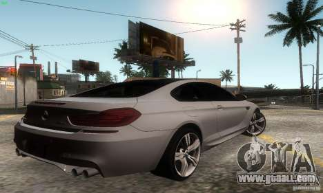 BMW M6 Coupe 2013 for GTA San Andreas left view