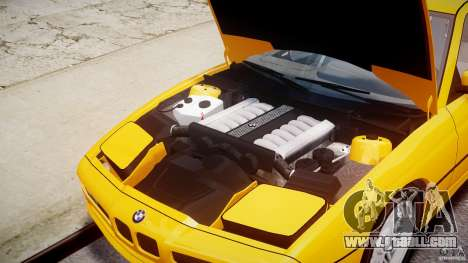 BMW 850i E31 1989-1994 for GTA 4 inner view