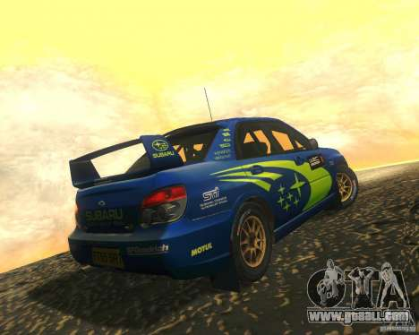 Subaru Impreza WRX STI DIRT 2 for GTA San Andreas inner view