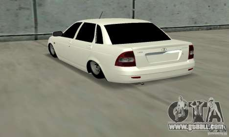 Lada Priora Low for GTA San Andreas back left view