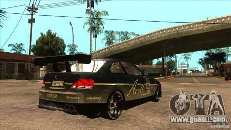 BMW 135i Coupe GP Edition Skin 3 for GTA San Andreas right view