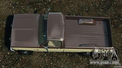 Chevrolet Silverado 1986 for GTA 4 right view