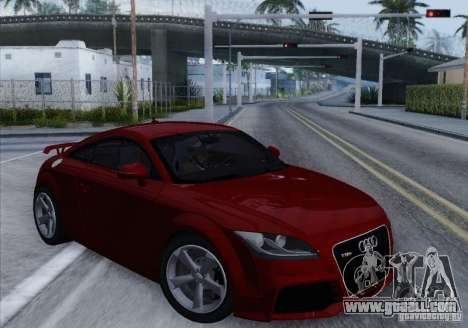 Audi TT-RS Coupe for GTA San Andreas left view
