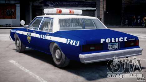 Chevrolet Impala Police 1983 [Final] for GTA 4 bottom view