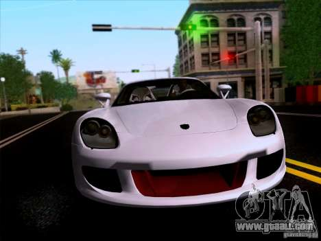 Porsche Carrera GT for GTA San Andreas back view