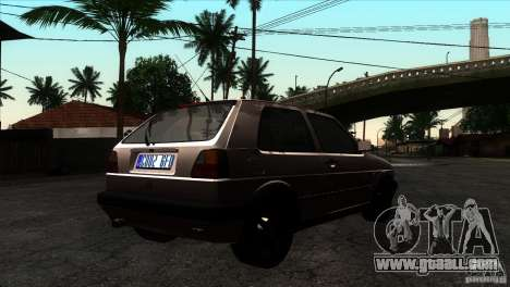 VW Golf 2 for GTA San Andreas right view