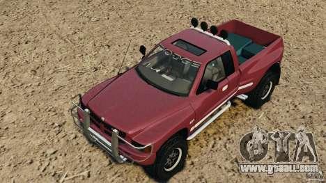 Dodge Ram 2500 Army 1994 v1.1 for GTA 4 bottom view