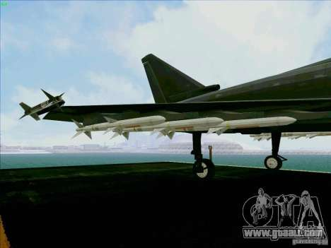Eurofighter-2000 Typhoon for GTA San Andreas side view