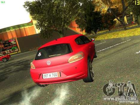 Volkswagen Scirocco 2009 for GTA San Andreas inner view