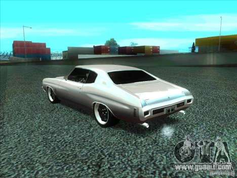 Chevrolet Chevelle SS Domenic from FnF 4 for GTA San Andreas left view