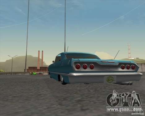 Chevrolet Impala 1963 lowrider for GTA San Andreas back view