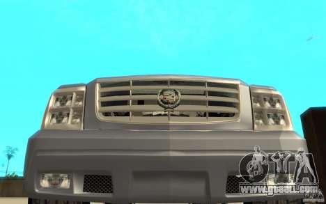 Cadillac Escalade for GTA San Andreas upper view