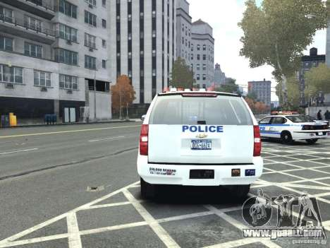 Chevrolet Tahoe NYCPD for GTA 4 back view