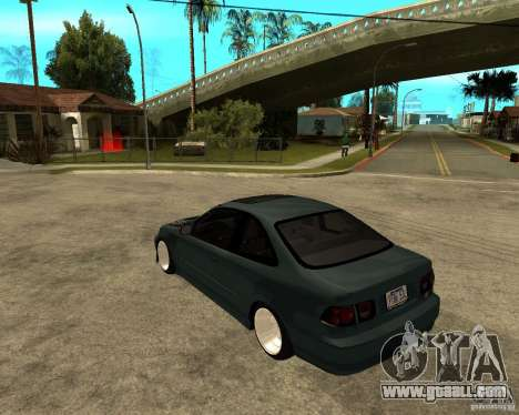 Honda Civic Coupe V-Tech for GTA San Andreas back left view