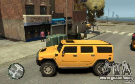 Hummer H2 for GTA 4 left view