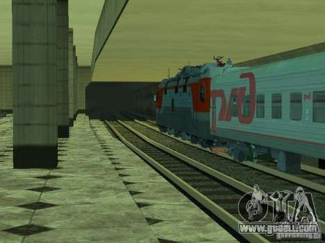 ÈP1M-392 OJSC «RUSSIAN RAILWAYS» for GTA San Andreas bottom view