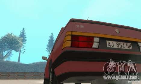 Alfa Romeo 75 for GTA San Andreas back view