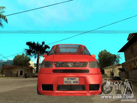 VW T4 Eurovan VR6 BiTurbo 20T for GTA San Andreas right view